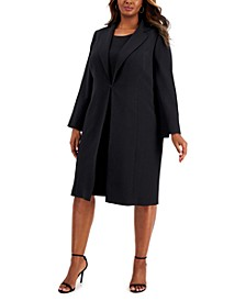 Plus Size Topper-Jacket Crepe Dress Suit