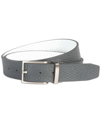 나이키 맨 골프웨어 골프 벨트 Nike Mens Reversible Perforated Leather Belt, Created for Macys,Dark Gray