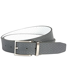 Men's Reversible Perforated Leather Belt, Created for Macy's
