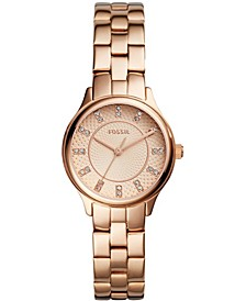 Women's Modern Sophisticate Three Hand Rose Gold Tone Stainless Steel Watch 30mm