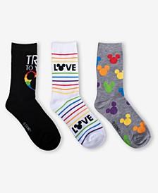 3-Pk. Mickey Mouse Pride Crew Sock