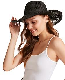 Open-Weave Wide-Brim Hat