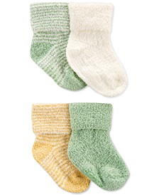 Baby Neutral 4-Pack Foldover Booties