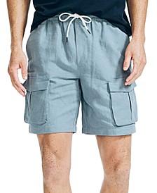 "Men's 8"" Linen Cargo Shorts"