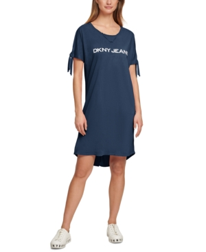 Logo Tie-Sleeve T-Shirt Dress