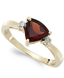 14k Gold Garnet (1-1/3 ct. t.w.) and Diamond Accent Ring