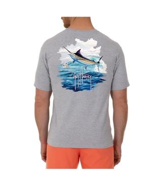 Men's Blue And Bertram Short Sleeve Pocket Crew Neck T-Shirt
