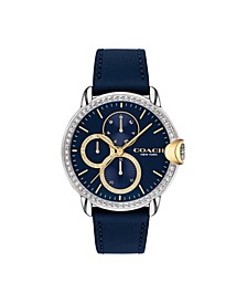 Women's Arden Blue Leather Strap Watch 38mm