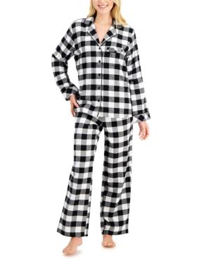 Buffalo Check Cotton Flannel Pajama Set