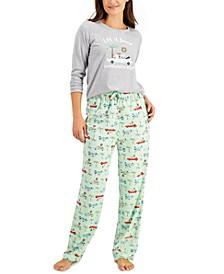 Matching Women's Tropical Santa Family Pajama Set, Created for Macy's