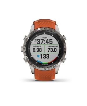Unisex Marq Adventurer Ember Orange Silicone Strap Smart Watch 30.4mm