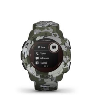 Unisex Instinct Solar Sportsman Edition Lichen Camo Silicone Strap Smart Watch 23mm