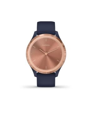 Unisex Vivomove 3S Navy Silicone Strap Smart Watch 8.9mm