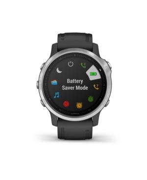 Unisex Fenix 6S Black Silicone Strap Smart Watch 30.4mm