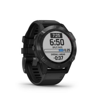 Unisex Fenix 6 Glass Black Silicone Strap Smart Watch 33.02mm