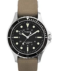 Men's Navi Xl Tan Fabric Strap Watch 41mm