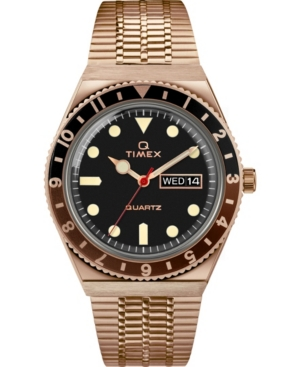 TIMEX MEN'S LAB ARCHIVE ROSE GOLD-TONE STAINLESS STEEL BRACELET WATCH 38MM