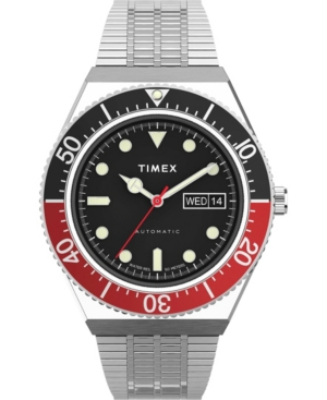 TIMEX MEN'S M79 AUTOMATIC SILVER-TONE STAINLESS STEEL BRACELET WATCH 40MM