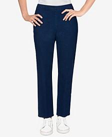 Petite Size Bryce Canyon Denim Straight Leg Medium Length Pant