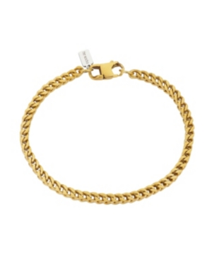 Brushed Gold Tone Stainless Steel 4mm Franco Chain Bracelet