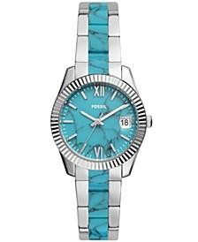 Women's Scarlette stainless steel 3 hand movement, bracelet watch 32mm