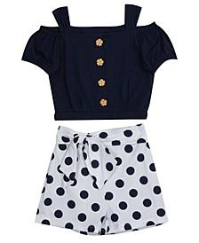 Big Girls Dot Shorts Set