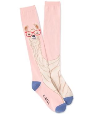 Women's Llama with Glasses Knee-High Socks