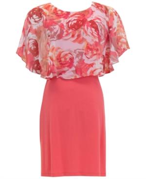 Floral-Popover A-Line Dress