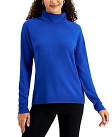 Petite Cotton Luxsoft Turtleneck Sweater, Created for Macy's