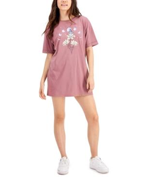 Juniors' Celestial Sunflower Graphic T-Shirt Dress