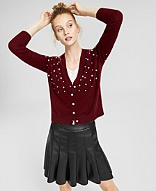 Cashmere Embellished Cardigan, Created for Macy's
