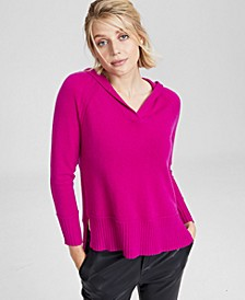 Cashmere Solid Hooded-Pullover, In Regular and Petites, Created for Macy's