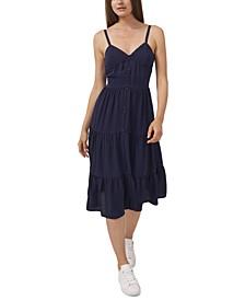 Drapey Gauze Tiered Dress