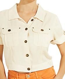 Short-Sleeve Denim Jacket