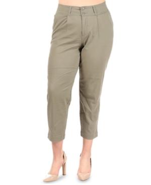 Plus Trendy Cropped Pants