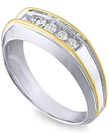 Men's Diamond Ring (1/4 ct. t.w.) in 10k Gold & White Gold