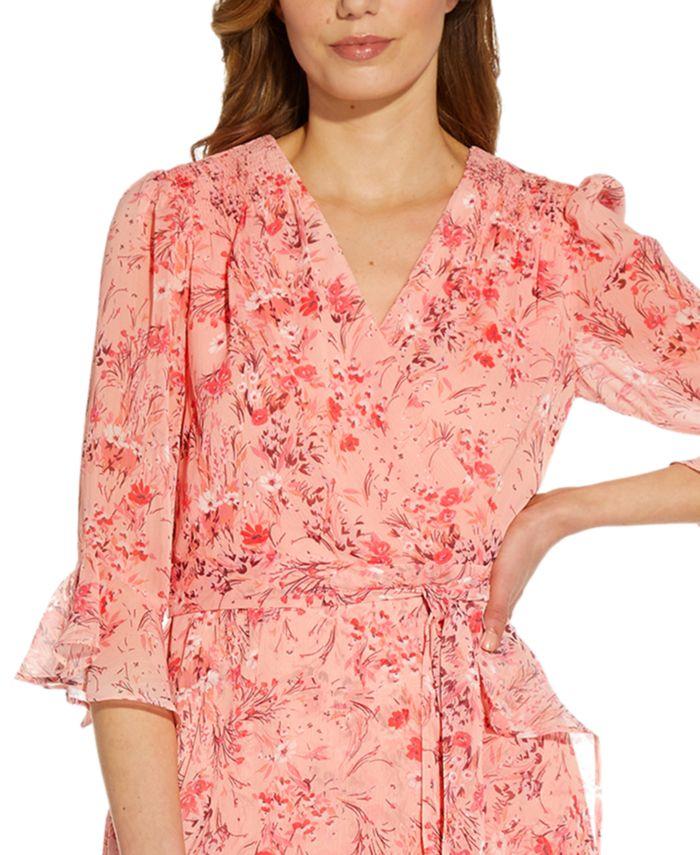 Adrianna Papell Ruffled High-Low Dress & Reviews - Dresses - Women - Macy's