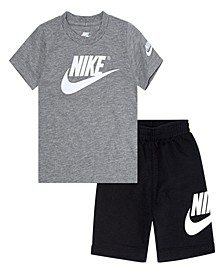 Little Boys Sportswear T-shirt and Terry Shorts Set, 2 Piece