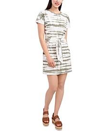 Tie-Dye Tie Waist Dress
