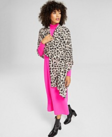 Cheetah-Print Cashmere Scarf, Created for Macy's