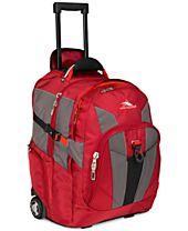 High Sierra XBT Rolling Laptop Backpack in Red