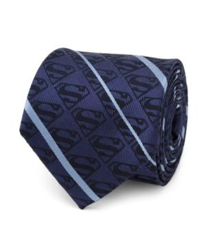 Men's Superman Stripe Pattern Silk Tie