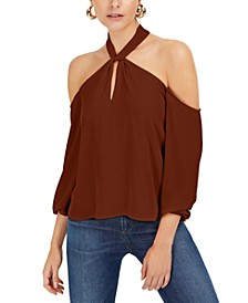 Keyhole Cold-Shoulder Top, Created for Macy's