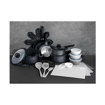 Brooklyn Steel Co. Milky Way 28-Piece Nonstick Aluminum Cookware Set