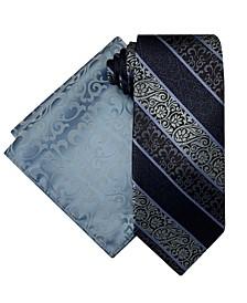 Men's Fancy Tie and Pocket Square Set