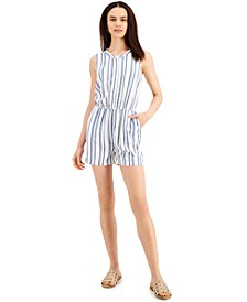 Woven Striped Romper, Created for Macy's