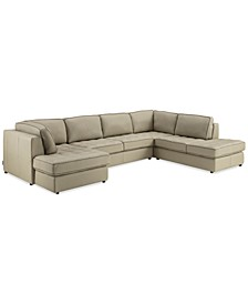 Nicholden 3-Pc. Leather Sectional, Created for Macy's