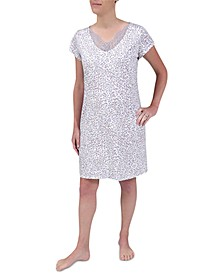 Lace-Trim Short Nightgown