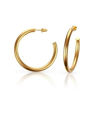 Medium Anti-Tarnish Open Hoop Earrings
