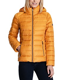 Petite Hooded Down Puffer Coat, Created for Macy's